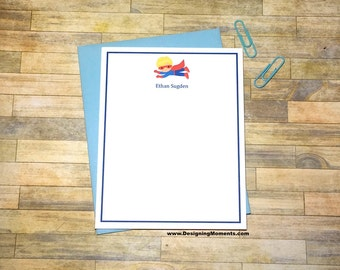 Boys Super Hero Cards - Note Cards - Stationery - Thank You Cards - Kids Stationary - Super Hero - Cape - Cards for Kids - Pen Pals