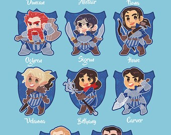 Grey Warden Keychains