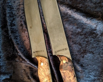Hand-forged Old hickory style butcher knife
