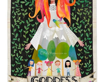 Mother Nature Goddess ART PRINT