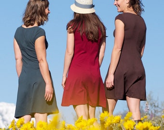 Bio, mancherons de vêtements - robe Simple de soja -, robe a-line