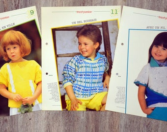 Set of 11 passion - children's sweaters knitting pattern