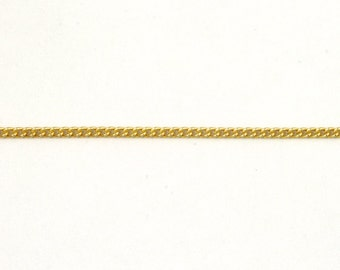 Matte Gold, 1.5mm Delicate Curb Chain #CC45