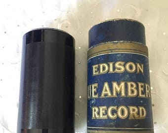 Vintage Edison Blue Amberol 4 minute Cylinder Record 2971 On The Beach Medley Waikiki Hawaiian Orchestra