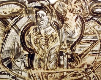 Albert Urban Abstract (mixed media)