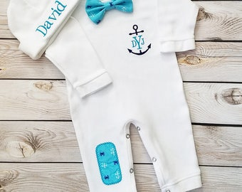 Newborn boy outfit baby boy coming home outfit monogrammed newborn boy outfit baby boy coming home outfit monogrammed baby boy personalized baby boy take home outfit baby gift negle Images
