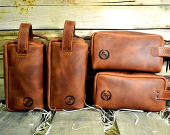 Weddings Leather toiletry bag, Groomsmen Gifts, Wedding dopp kit leather, Personalized mens wash bag, Gift leather bag, leather toiletry bag