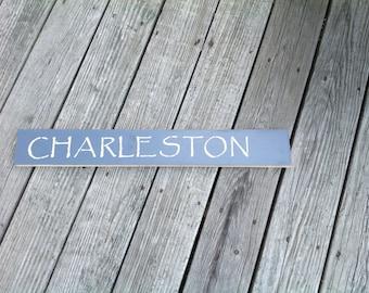 Charleston Sign, South Carolina, Coastal, Beachy, Summer, Shells, Starfish, Charleston, Carolinas
