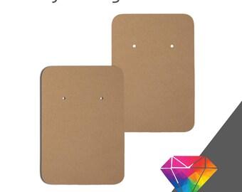 100 2x3 Custom Earring Card With Rounded Edges