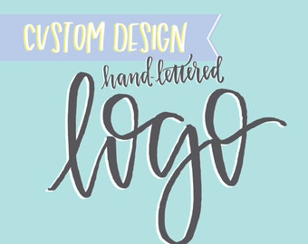 custom logo design for photographer, blog, florist, wedding planner // handwritten small business logo design with calligraphy, illustration