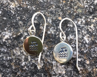 Swim Swimmer Sterling Earrings