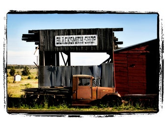 Black Smith Shop Old Sign Old Building Old Truck