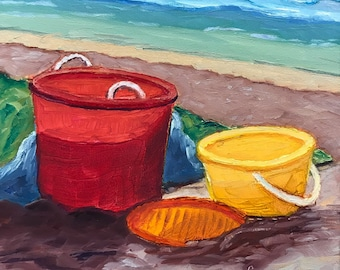 "Original Art - ""Playtime at the Beach"""