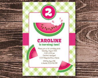 Watermelon Party Invitation – DIY Printable Personalized (Digital File)