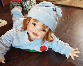 Crawling Baby Girl Porcelain Doll