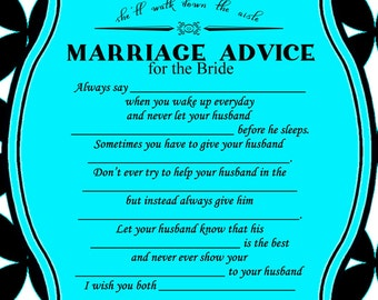 Breakfast at Tiffanys Bridal Shower Advice Card
