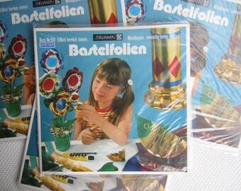 Vintage West German Metal Paper Craft Material Bastelfolien