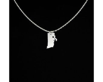 Rhode Island Necklace - Rhode Island Jewelry - Rhode Island Gift