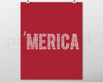 Patriotic Decor, Merica, 4th of July Decor, Red White and Blue, Memorial Day, Americana, Fourth of July, Home Decor, Independence Day, USA