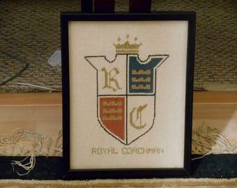 Royal Coachman Needlepoint Framed byj Jo Bennett