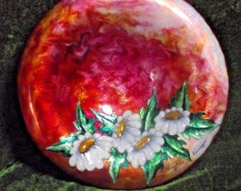 Vintage French Renaissance Limoges Floral Decorative Bowl/Plate - French Vintage. Decorative Bowl. Decorative Plate.