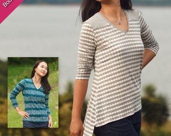 Arenal Top Digital Sewing Pattern for Women