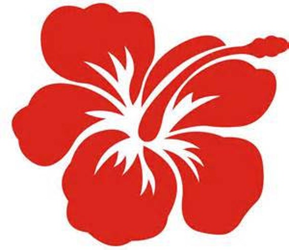 yeti hawaiian, Aloha Flower Hibiscus Decal, vinyl decal for tumbler, Flower Decal, Hawaii decal, 30 oz decal, 20 oz tumbler decal, decal car