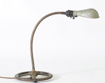 Vintage Industrial Machine Shop 50's Gooseneck Desk Lamp