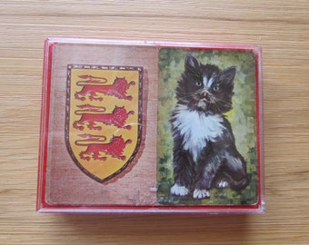 Vintage Hallmark Cat and Lion Double Deck of Cards