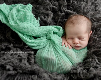 Ocean Blue Green Cheesecloth Baby Wrap Layer Cheese Cloth Newborn Photography