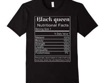 Black Queen Nutritional Facts T-Shirts