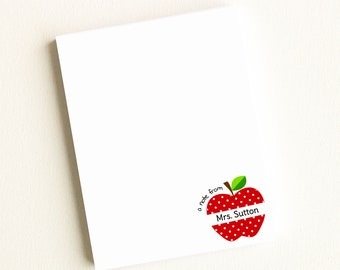 Personalized Notepad | Personalized Teacher Notepad | Personalized Teacher Note Pads | Teacher Gifts | Teacher Christmas Gifts