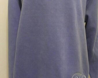 Comfort Colors, Monogrammed Sweatshirt, Monogrammed Fleece, Monogrammed Pullover, Blue Sweatshirt, Personalized Sweatshirt, Monogrammed Top