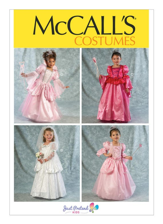 OOP, 6897, McCalls, Girls, Toddler, Princess Dress, Flower Girl ...