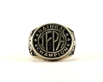 Vintage IFPA Champion Band Ring 925 Sterling Silver RG 2999