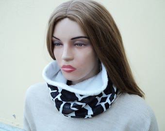Cowl Scarf , Two Sided Infinity Scarf, Women Jersey Short Scarf, Cowl Neck, Women Fashion Short Cozy Cowl