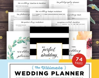 Wedding Planner Printable, Wedding Planning Book, Printable Wedding Planner, Wedding Binder Template, Engagement Gift Ideas, PDF Download