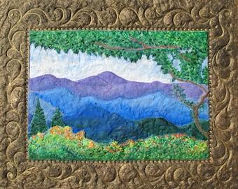 SALE,Blue Ridge Mountains,azaleas,Spring wildflowers,Virginia Mountains,Skyline Drive,Wilderness landscape,paper mache,Flame Bilyue