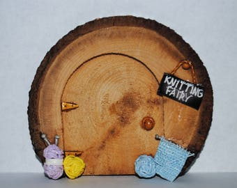 Fun & Crafty Magical Knitting Fairy Door - Hand Crafted by Mary-Beth Originals