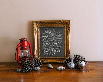 Christmas art print, Printable Wisdom Christmas printable, calligraphy christmas decor hand lettered Christmas print decor, wall art