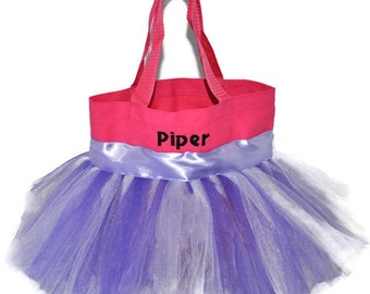 Pink Tutu Bag, Free Monogram Name Embroidered on The Bag. Personalized Girl Dance Bag, Tutu Bag, Dance Bag, Fairy Princess Bag