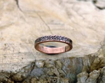 12 1/2 plus, Copper Ring, Arthritis Ring, Copper Jewelry, Adjustable Ring, Mens copper Ring - Womens copper Ring - Rustic copper Ring - USA