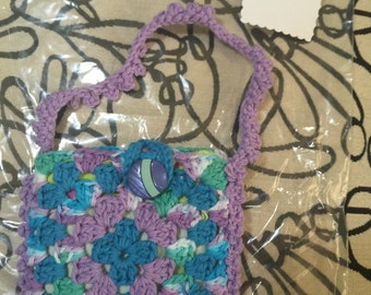 Crocheted Granny Square Purse #163