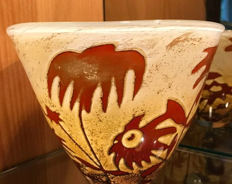 VINTAGE Kosta Boda Olle Brozen Floating Flowers Bowl