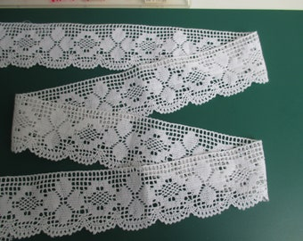 1.2 m white cotton lace, white cotton lace 5.5 cm in height
