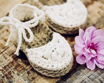 Crochet Pattern, Crochet Booties Pattern, Baby Booties Pattern, Crochet Baby Shoes Pattern, Crochet Espadrille Sandals Pattern for Baby Girl