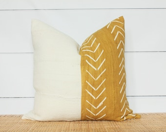 Mudcloth Pillow Cover | Authentic Mudcloth | 20x20 | No274