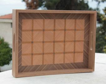 Wood tray, wooden tray, tray, wood serving tray, coffee serving tray, serving tray, breakfast tray, wooden breakfast tray, wooden tray gift