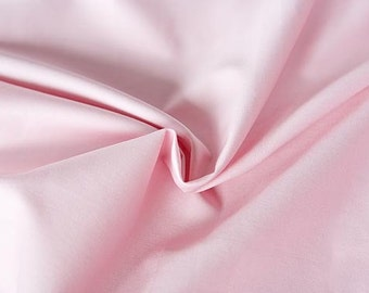Pink organic cotton sateen. 100% Organic Certified Cotton GOTS. Pink dresses fabric for wedding. Cotton by the 1/2 meter (50 cm).