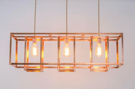 Copper chandelier modern farmhouse lighting rustic aloadofball Gallery